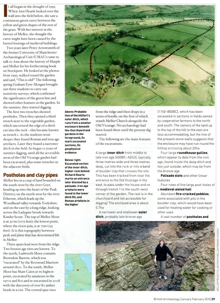 British Archaeology, 2010: Mellor - a hillfort in the garden